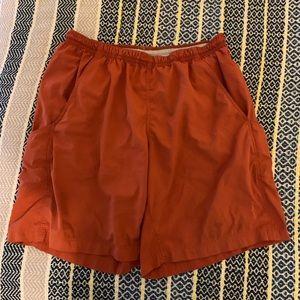 Patagonia men's orange swim board trunks!